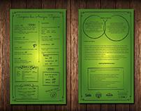 Cardápio em PS impresso - HAZ Com. Visual