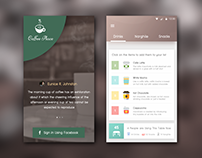 Cafe Application Interface Design