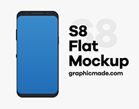 Galaxy S8 FREE Flat Design .psd & Mockup