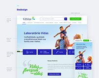 Website - Laboratório Vidas