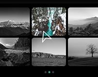 Unique UX website-portfolio for photograph