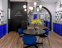 2020: ⁣⁣Showroom of a classy optician / Salon optyczny