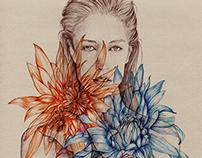 Ballpoint pen~Flowers#2