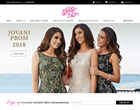 Website design: Elizabeth Noel Dress Boutique