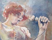 Ella Fiztgerald watercolor