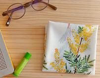 Handkerchief mimosa & hydrangea