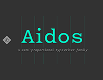 Aidos – A semi-proportional typewiter family