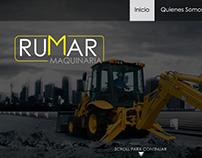 Sitio Web Rumar Maquinaria
