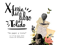 Cartel X Feria del Libro de Toledo