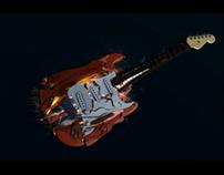 Exploding Guitar