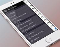Side menu of the Investing.com iPhone app