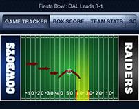 CBS Sports iPhone app.