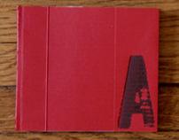 handmade book: Letter A