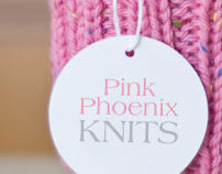 logo, tag: Pink Phoenix Knits
