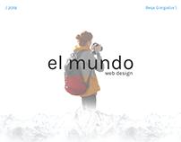 El Mundo - Traveler Blog Web Design