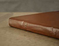 Large Leather Bound Sketchbook with Debossed Cover