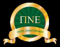 100th Anniversary Logo - Pi Nu Epsilon