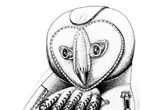 Athena's owl (in progress)
