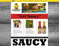 Saucy Wench BBQ Sauce Website