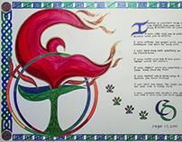 Pen & Ink Illuminated Calligraphy