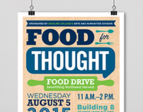 HighLine College Student Food Drive Poster