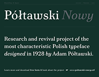 Półtawski Nowy – Revival Project (FREE FONT)
