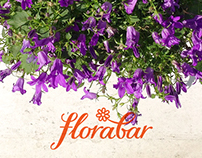 Florabar cafe. Logotype.
