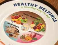 Healthy Helpings Plate