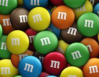 Ilustração 3D - M&M's Mars