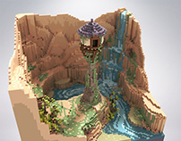 Rapunzel tower - voxel