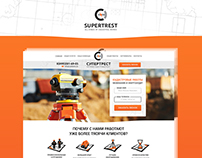 "Landing page ""All kinds of cadastral works"""