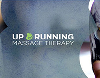 Up and Running Massage Therapy Identity Design