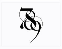 789 - Logo Design by Moshik Nadav Typography