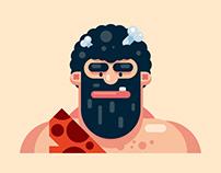 Flat Design Caveman Character Design