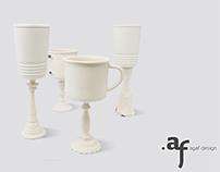 Porcelain Wine Glasses - Tableware by Agaf Design