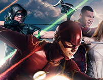 CW: SUPERHEROES KEYART
