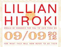 Wedding Invite: Lillian & Hiroki