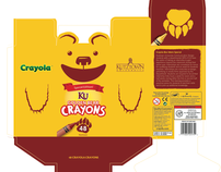 Kutztown University Bear Crayola Box