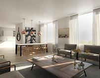 Interior apartments rendering CGI