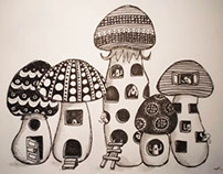 Mushroom  Drawing 1