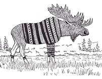 Swedish Moose Illustration