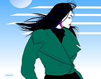 Lunar wind.