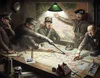 """""""LIBERATORS"""" (poster to a computer game)"""