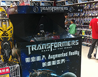 TRANSFORMERS Instore in Dreamoc XL2 Holographic display