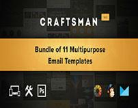 Craftsman - Set of 11 Multipurpose Email Templates
