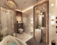 Modern bathroom, private villa @ Qatar