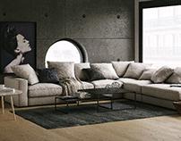 boconcept sofa render