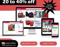 Classified script with 20% to 40% Offer from Appkodes