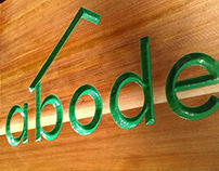 Abode Carved Sign