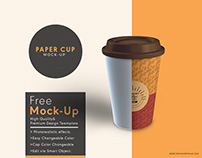 Paper cup mock up free psd template